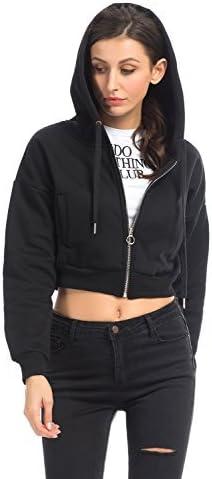 Crop Chicago Mall Sweatshirt Hoodie Long Sleeve Top Zip UP Jacket Selling rankings Hooded