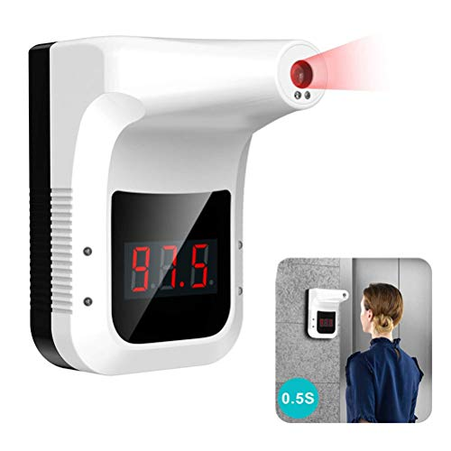 Koowaa Wall-Mounted Infrared Thermometer Non-Contact Hanging Body Temperature Scanner for Offices Shops Schools