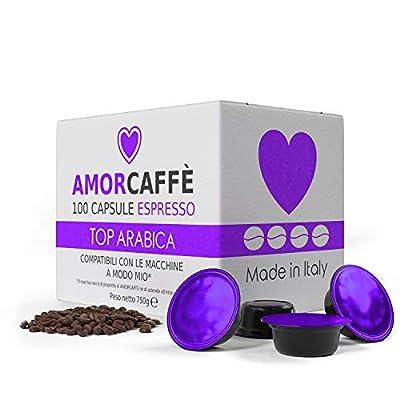 Amorcaffe 100 Lavazza A Modo Mio Compatible Coffee Capsules Pods - Top Arabica Taste - Slow Roast