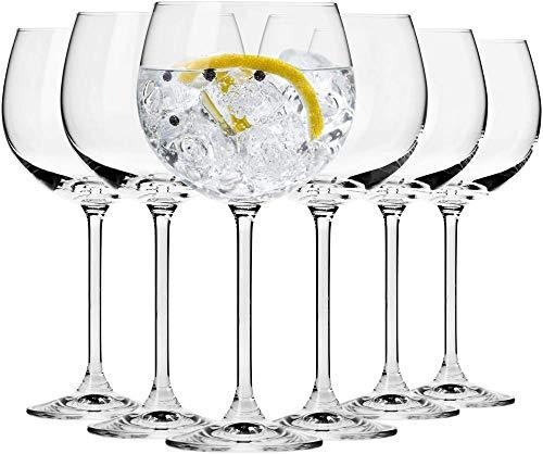 Vasos de agua con globo de cóctel Gin Tonic |Juego de 6 Piezas |480 ml ||Ideal para el hogar