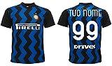 Maglia Inter 2021 Personalizzata Ufficiale 2020-2021 Adulto Ragazzo Bambino Tuo Nome e Numero (M Adulto)