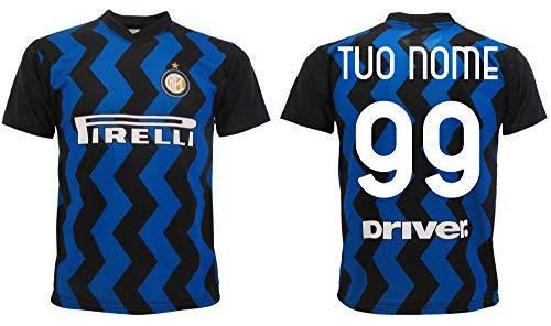 Maglia Inter 2021 Personalizzata Ufficiale 2020-2021 Adulto Ragazzo Bambino Tuo Nome e Numero (S Adulto)