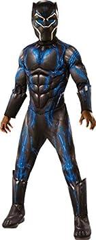 Rubie s Costume Deluxe Black Panther Child s Costume Blue Medium