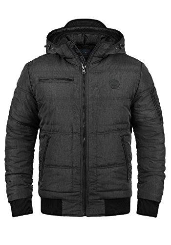 Blend Boris Teddy Herren Winter Jacke Steppjacke Winterjacke gefüttert mit Kapuze, Größe:XXL, Farbe:Black Teddy (75126)