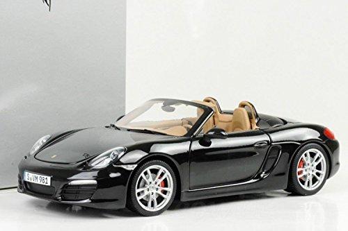 Porsche Boxster S (981), Modellauto 1:18, Basaltschwarzmetallic/Luxorbeige