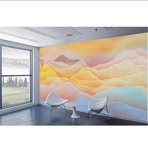 Geel wolk zand behang muurschildering voor woonkamer kunst muurschilderingen muur muurschildering papier rol op maat papier muur Decor MRQXDP Papel de Parede 280x424cm