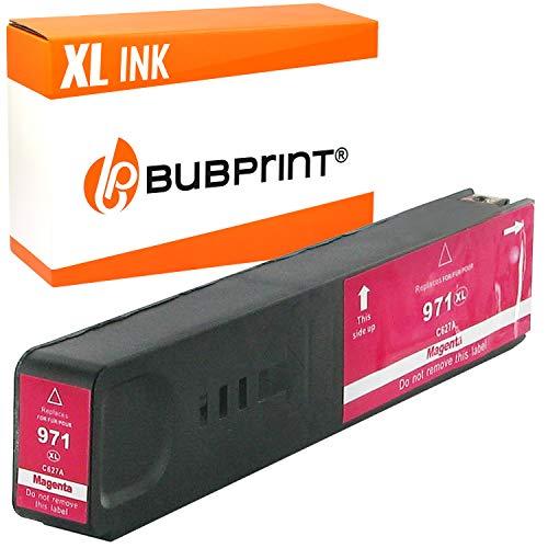 Bubprint Druckerpatrone kompatibel für HP 971XL für OfficeJet Pro X451dn X451dw X476dn X476dw X551dw X576dw X450 X470 CN627AE Magenta