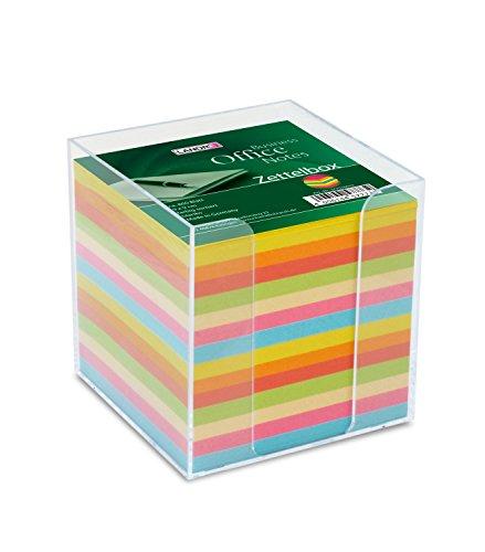Landre 100420101 - Contenitore trasparente per foglietti piccoli da appunti, quadrati, 9 x 9 cm, circa 800 fogli