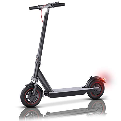 """QINGOR Electric Scooter Adult 350W Motor 10"""" Solid Tires 25 Miles Long Range Folding Electric Scooters with APP Control"""