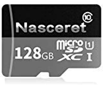 Nasceret Micro SD SDXC Card 128GB High Speed Class 10 Memory Card With Micro SD Adapter