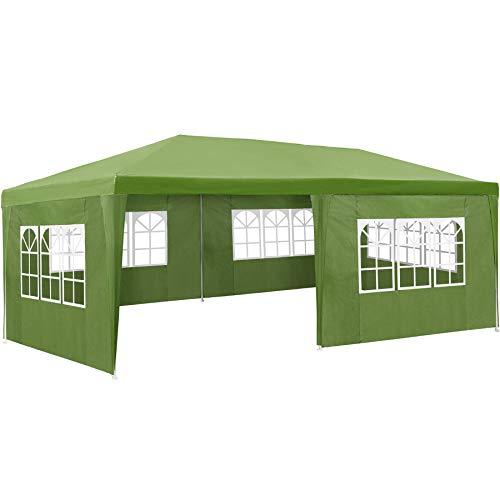 TecTake 800382 Carpa Pabellón 6x3m | 5 Paneles Laterales | Tiendas Eventos & Fiestas Jardin (Verde | No. 402304)