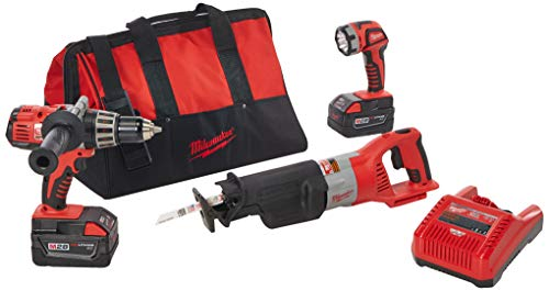 Best Bargain Milwaukee 0928-23 M28 28V Lithium-Ion Cordless 3-Tool Combo Kit