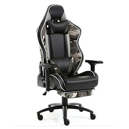 Mit Kopfstütze und Lordosenstütze Liegestuhl Studienstuhl Gaming Chair Computerstuhl Gilt für Büro Schlafzimmer Wohnzimmer