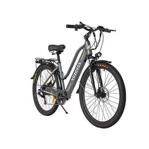 """Skyzzie Bicicletta elettrica da Trekking Bici Elettrica da Citt Mountain Ebike con Batteria Rimovibile agli Ioni di Litio da 48 V/9.6Ah, 350 W, 3 modalità, Shimano a 7 velocità,26""""/24"""""""