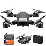 tyuiop Drone Telecomandato con Doppia Fotocamera 4K + 1080P Fotografia Aerea HD, Quadricottero RC Giocattoli per Bambini, Durata della Batteria di 25 Minuti