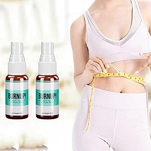 Burn Up Ultimate Cellulite Heating Spray, Weight Loss Fast Fat Burner Slimming Spray belly Fat, for Thighs,abdomen, Arms Massage Weight Loss (2pcs)