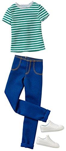 Barbie–Jeans Casual Gestreift Hemd und Hose für Ken (Mattel CFY02)