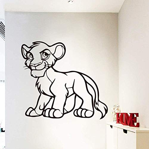 Etiqueta engomada creativa de la pared de la moda Patrón de león Etiqueta engomada creativa del diseño de animales para niños Etiqueta engomada del arte 58Cm X 52Cm