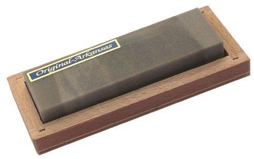 Abziehstein Hart Arkansas 90x25mm in Holzbox