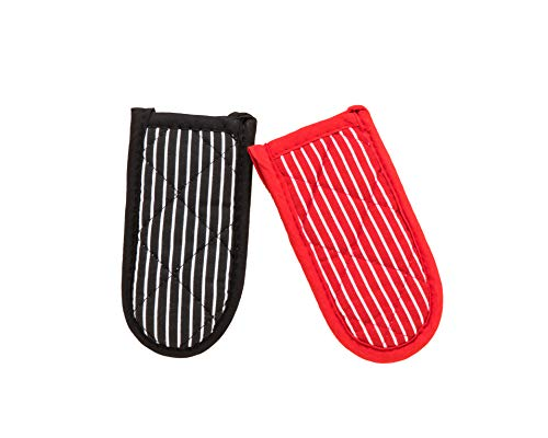 Striped Cast Iron Skillet Handle Cover Durable Pot Holder Sleeve Heat Resistant Machine Washable Handle Mitts 2 PCS