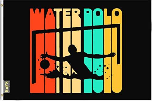 RuFS Water Polo Gartenhaus einseitig Polyester Zeichen Outdoor Banner Außenwand Innenhof Banner Dekor