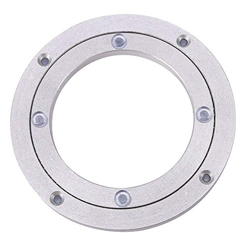 Heavy Duty Aluminium Alloy Rotating Bearing Turntable Round Dining Table Smooth Swivel Plate (Size:6Inch)