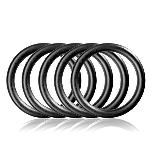 Ganzoo O - Ring aus Stahl M, 5er Set, DIY Hunde-Leine/Hunde-Halsband, nichtrostend, Ideal mit Paracord 550, geschweißt, Farbe: schwarz matt