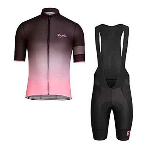 Conjunto de camisetas de ciclismo para hombre para bicicleta de montaña, pantalones cortos, cómodos, transpirables, de secado rápido, con almohadillas de gel 9D (T-07, XS)