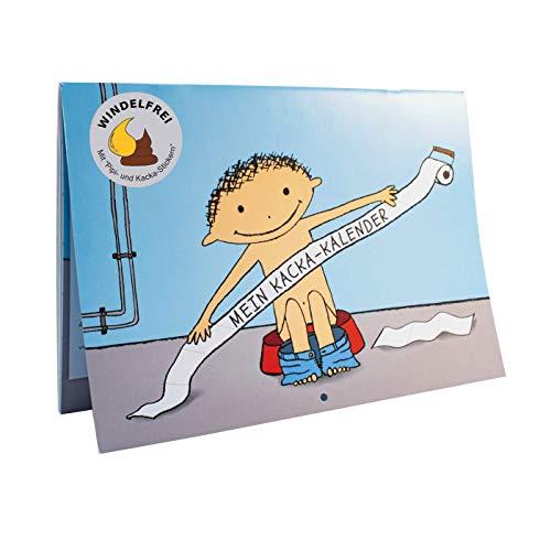 Mein Kacka-Kalender: Töpfchentraining Buch. Windelfrei mit Hilfe von Stickern. Töpfchen Belohnungstafel für trocken werden