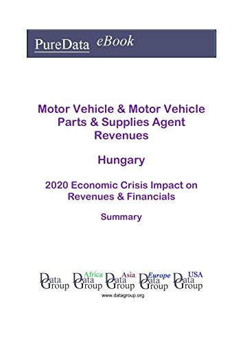 Motor Vehicle & Motor Vehicle Parts & Supplies Agent Revenues Hungary Summary: 2020 Economic Crisis Impact on Revenues & Financials (English Edition)