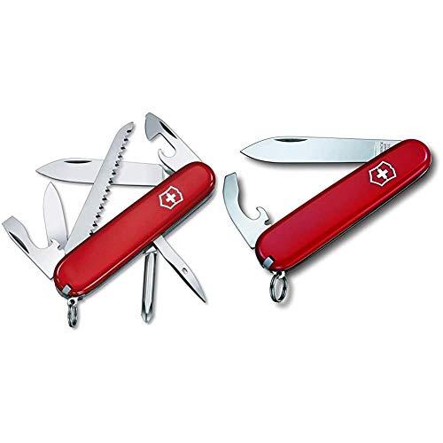 Victorinox Hiker - Cuchillo, Rojo, Acero inoxidable, 7 herramientas-13 funciones + V02303.B1 Navaja Medio Bantam, Rojo, M