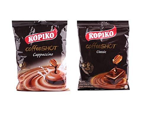 Pamai Pai® Probierpack: 2 x 150g Kaffeebonbons Sorten: Cappuccino und Kaffee Kopiko Bonbons