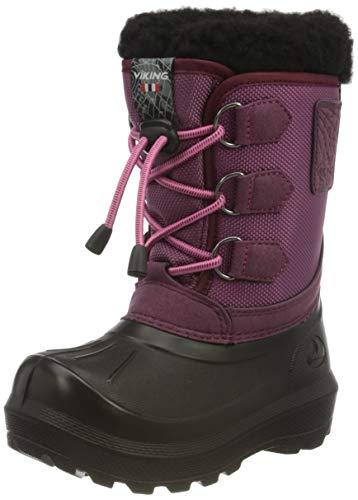 viking Unisex-Kinder Istind Schneestiefel, Pink (Dark Pink/Black), 28 EU
