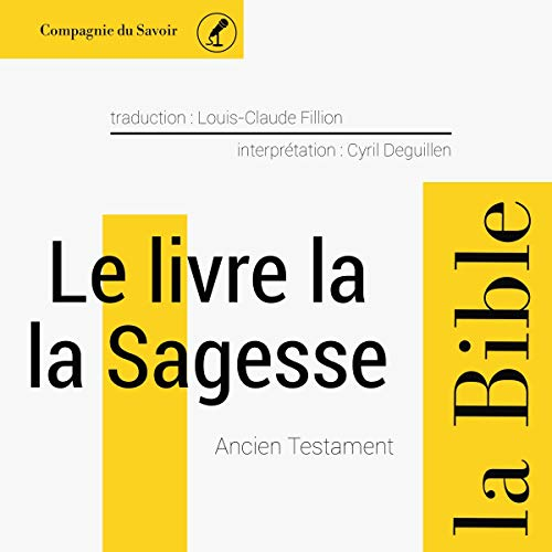 Le livre de la Sagesse audiobook cover art