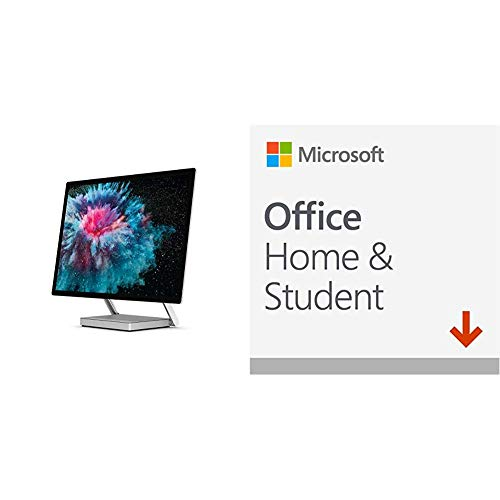Microsoft Surface Studio 2 All-in-One PC (Platinum) - Intel Core i7, 16GB RAM, 1TB SSD, 1060 Graphics + Microsoft Office Home & Student 2019