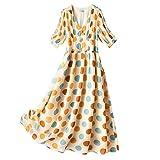 ZMMDD Vestido de lunares de gran tamaño para mujer de verano de...