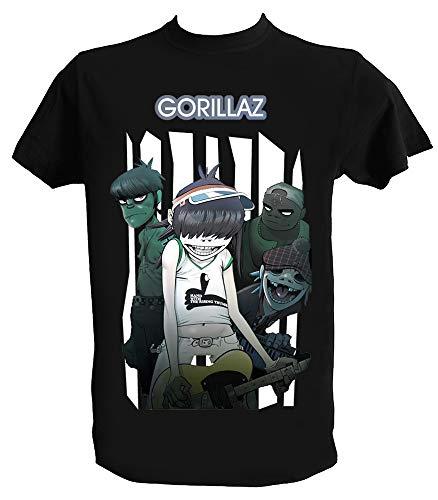 Generico T Shirt Gorillaz, Plastic Beach, Music, Bambino 5-6 Anni