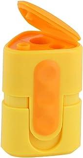 Manueller Bleistiftspitzer, Dreieck-Doppeltes Loch Kinder Student Student Student Künstler Berufsgeschenke (6-8mm Und 9-12mm). (Farbe   Gelb) B07Q142T95  Angenehmes Aussehen 77ce48