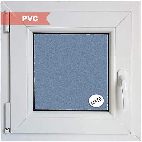 Ventanastock Ventana PVC Practicable Oscilobatiente Izquierda 600 ancho x 600 alto 1 hoja con vidrio Carglass (Climalit Mate)