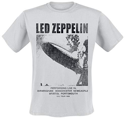 Led Zeppelin Herren Ledzeppelin_uk Tour '69 Lz1_Men_Grey_ts:1xl T-Shirt, Schwarz (Black Black), X-Large