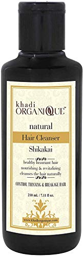 Glamorous Hub Khadi Organique Shikakai - Limpiador de cabello (champú), paquete de 1 (el paquete puede variar)