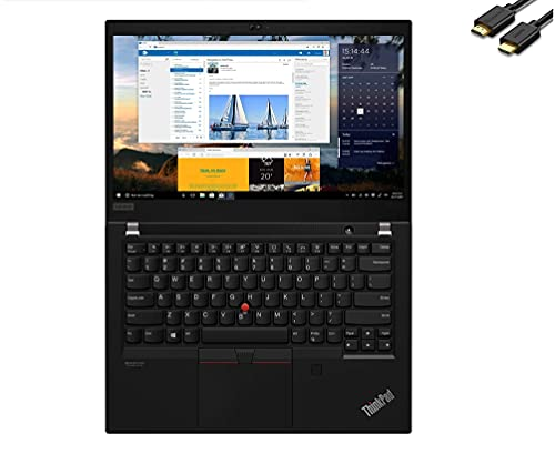"2021 Lenovo ThinkPad T14 14"" FHD 1080p Business Laptop ( Intel 4-Core i5-10210U(Beat i7-8565U), 16GB DDR4 RAM, 256GB PCIe SSD) Backlit, Wi-Fi 6, USB-C, Webcam, Windows 10 Pro, IST Computers Cable"