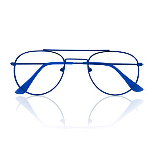 Prontoleggo Occhiali Da Lettura Prontoleggo Mod. Aviator Blu Diottria +3,00-180 g