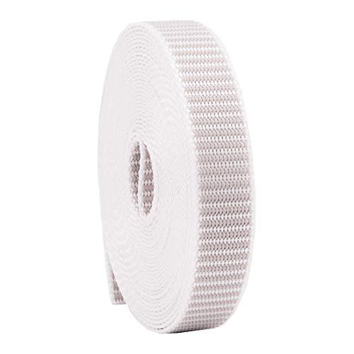 Rollladengurt 22/23 mm in Grau, 6m MADE IN GERMANY, Gurtband für Rolladen und Jalousie, Maxi Rolladengurt strapazier- und reißfest, stabiles Rolladenband