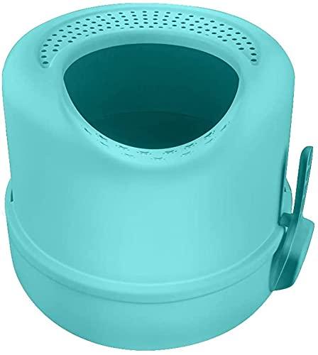 wangYUEQ Bassin de litière de Chat Toilette entièrement clôturée Toilette de Sable Grand Bassin de Sable Bassin de Toilette à la Maison Toilette pour Chats Box de litière (Couleur: Bleu)