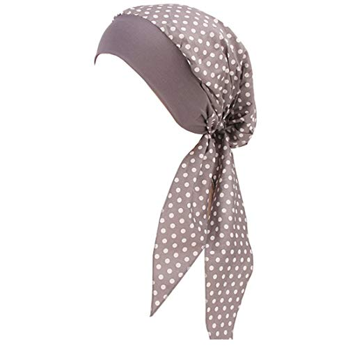 YONKINY Damen Kopftuch Chemo Sommer bedruckte Schal Turban Kopftücher Headwear Bandana Beanie Mütze für Krebs, Chemo, Haarausfall (#3)
