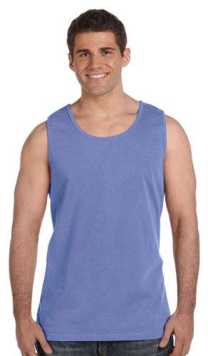 Comfort Colors Men's Ringspun Garment-Dyed Tank - Flo Blue 9360 L
