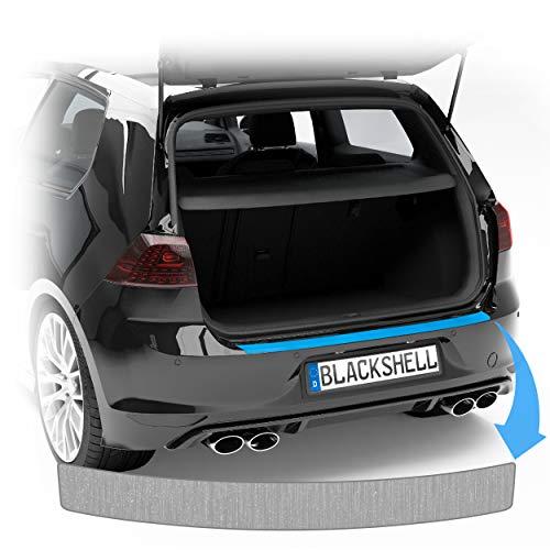 Blackshell® Ladekantenschutz Folie passend für VW Passat Variant | Typ B8 (3G) | Bj. 2014-2019 Aluminium gebürstet Silber - passgenaue Lackschutzfolie inkl. Profi Rakel für Folie