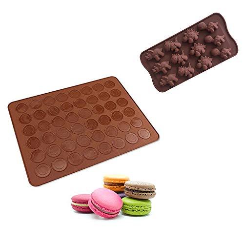 Giddah Backmatte für Macarons aus Silikon, Backmat MaKronenformen Mit zusätzliches Geschenk Cute Mold