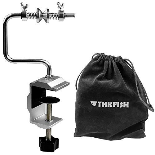 THKFISH Enrollador de Línea de Pesca Cola Sistema Tackle con Abrazadera Estilo Corto